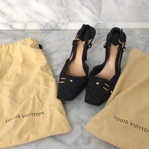 Louis Vuitton square toed heels